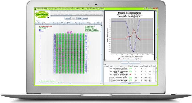 QUALIMAGIQ module for a complete and fully automatic QA of the multi-leaf collimator used in a dynamic mode